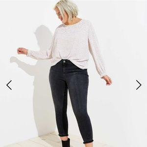 Loft Black washed skinny jeans